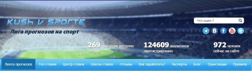 Обзор проекта по ставкам kushvsporte